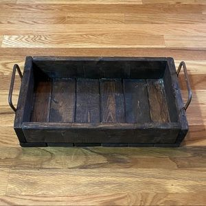 Antique Vintage Wooden Tray